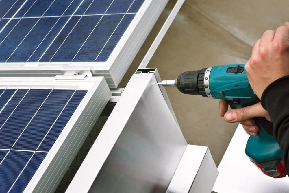 zonnepanelen plat dak montage