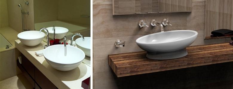 kleine badkamer inrichten: kies voor losse wastafels