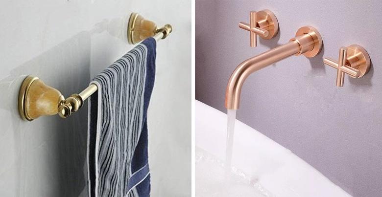 Voeg een gouden accent toe aan je moderne badkamer