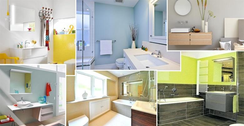 Moderne badkamer: hemelse tinten is de nieuwe trend