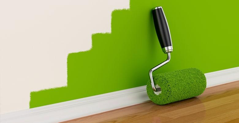 Hoe geverfde muur reinigen?