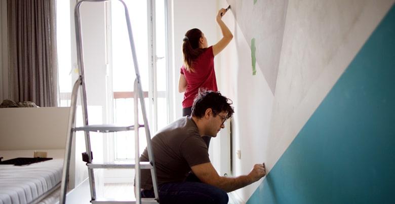 Muren schilderen? Bereken hoeveel liter verf je nodig hebt