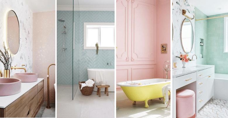 Moderne badkamer: pastelkleuren zijn een nieuwe trend
