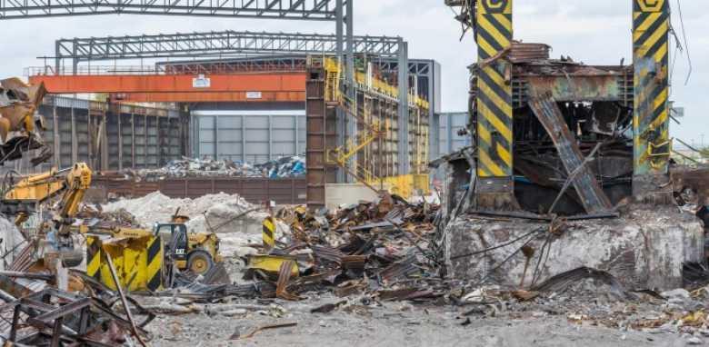 afbraak industriële gebouwen