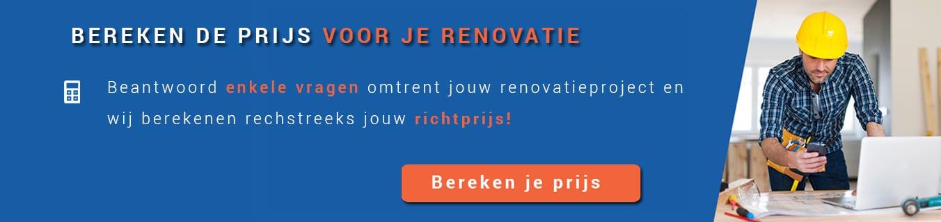 Bereken de prijs voor je renovatie