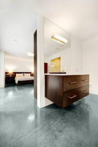 Badkamer in de slaapkamer