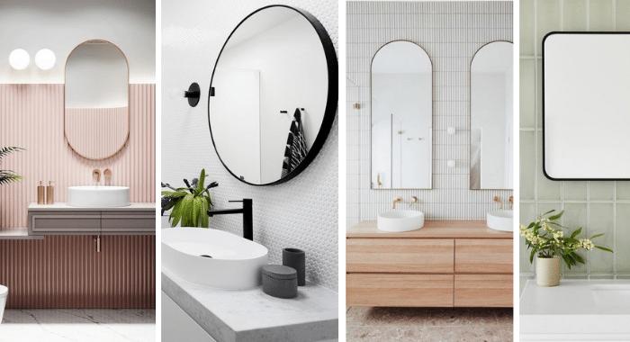 Badkamertrend: afgeronde spiegels