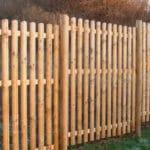 houten afsluiting