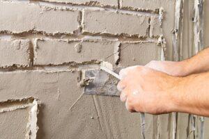 Pleisterwerken sierpleister baksteen motief